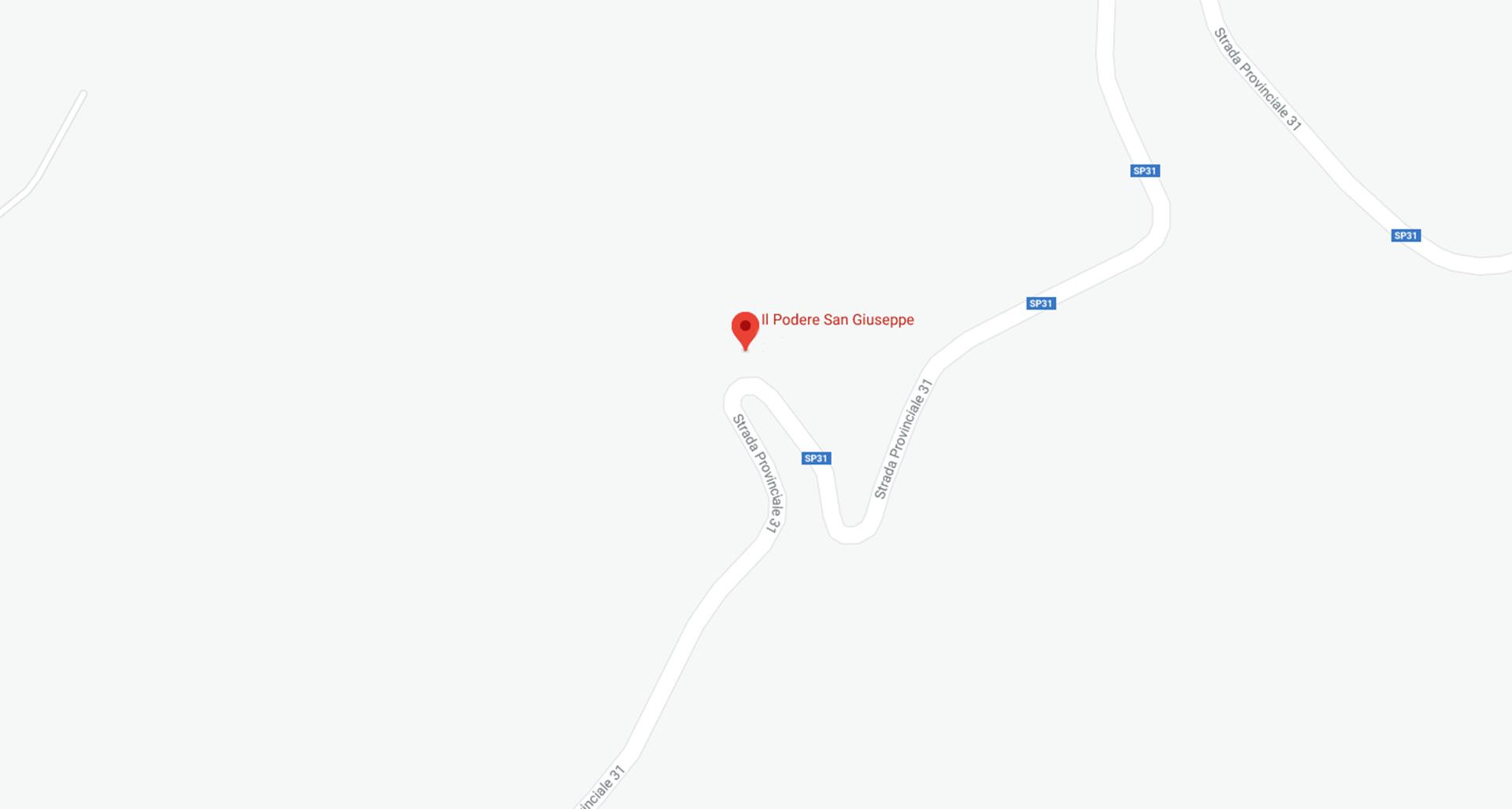 Mappa Il Podere San Giuseppe
