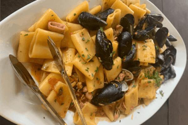 Paccheri con pesce Il Podere San Giuseppe