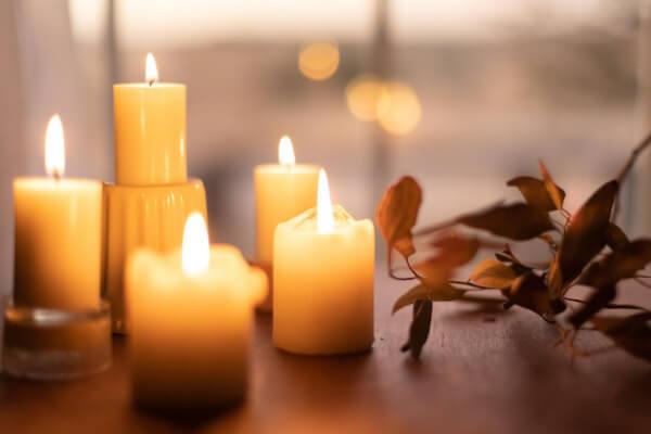 Atmosfera a lume di candela Il Podere San Giuseppe
